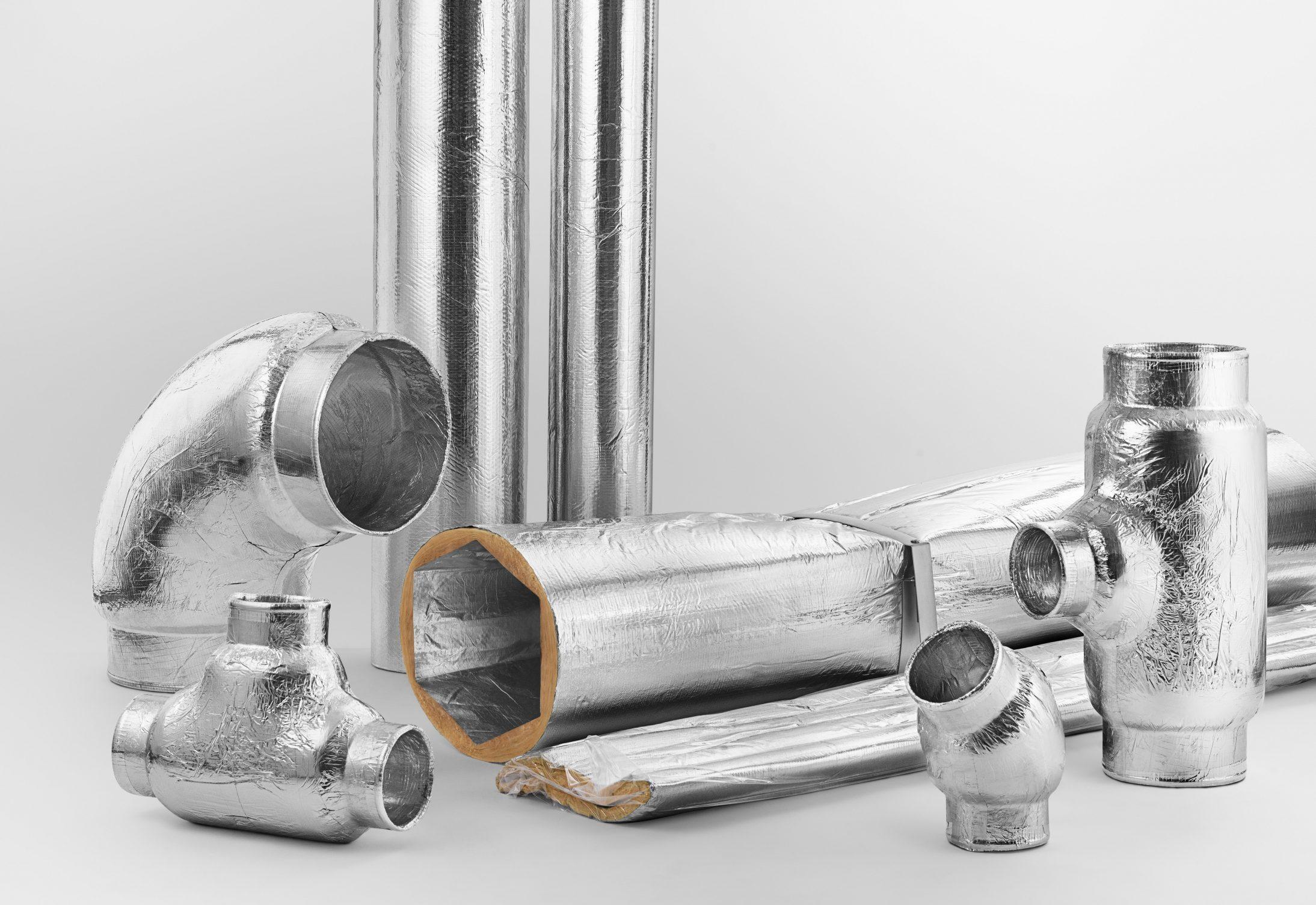 Våra ventilationskanaler tillverkas av återvunnet material